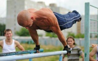 Програма гімнастичних вправ на паралельних брусах