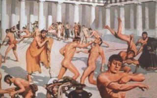 Де у Стародавній Греції та Римі хлопчиків навчали гімнастиці