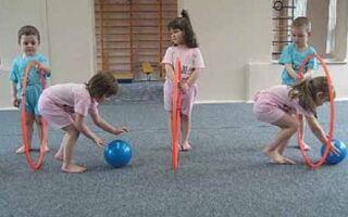 Гімнастичні вправи з обручем для дітей