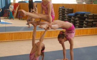 Акробатичний переворот в гімнастичній програмі