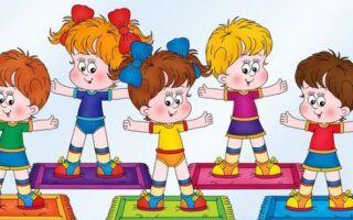 Займаємося ранковою гімнастикою в дитячому садку