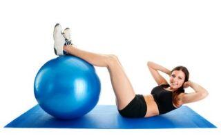 Як вибрати діаметр гімнастичного м'яча