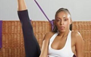 Вправи з гумою для розтягнення в художній гімнастиці