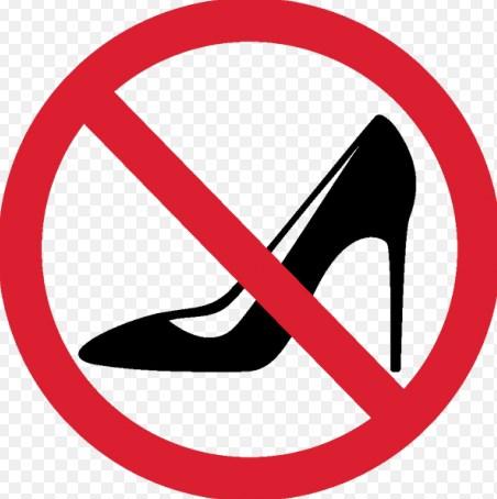 Не можна на каблуках