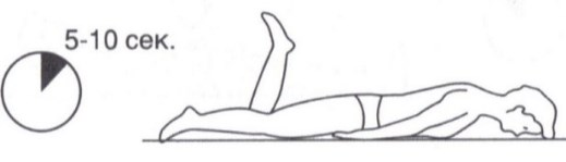 Вправа лежачи на животі