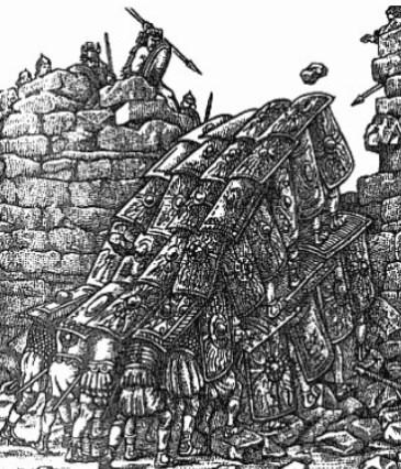 Штурм римлянами фортеці